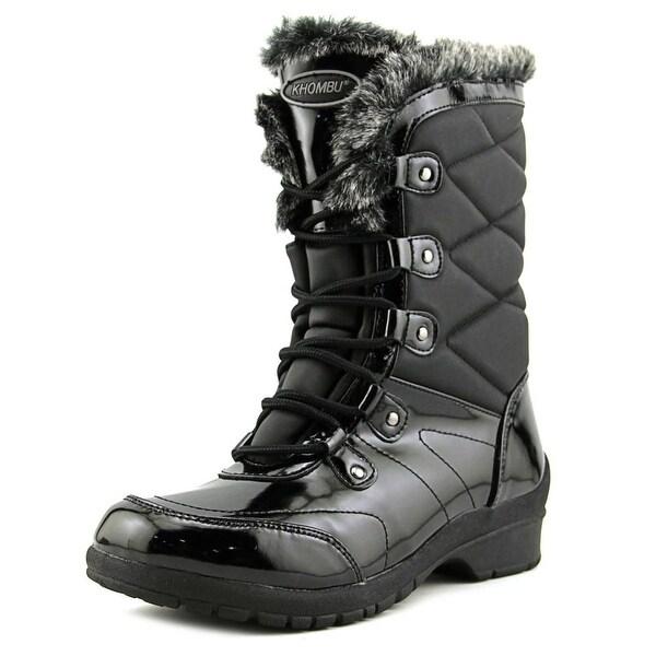 Khombu Avon Women Black Snow Boots