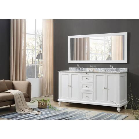 """72"""" Direct. Vanity Sink Classic Double Vanity Sink Cabinet"""