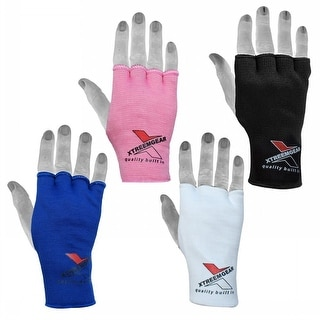 Boxing Fist Hand Inner Gloves Bandages MMA Muay Thai Protective Wraps G1-Pink - Pink