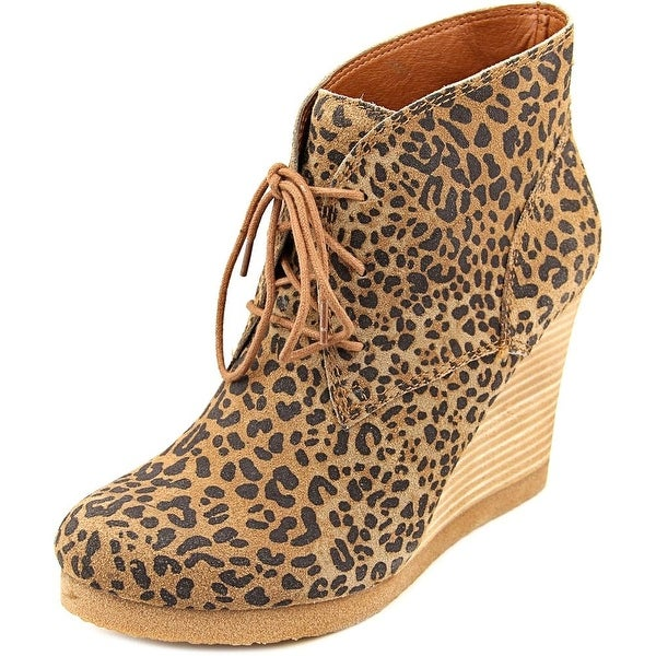 Lucky Brand Taheeti Women Round Toe Suede Ankle Boot