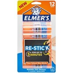 12/Pkg - Elmer's Re-Stick Washable School Glue Sticks 8G