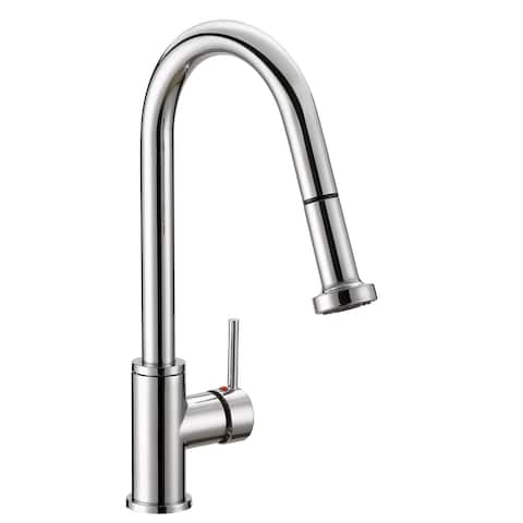 """SAFAVIEH Solea Enchant Stainless Steel Dual Function Pull-Down Spray Kitchen Faucet - 9.3"""" x 2.1"""" x 16.6"""""""