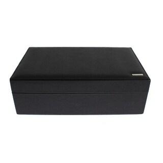 Dolce & Gabbana Dolce & Gabbana Black Dauphine Leather Watch Jewelry Sunglasses Case - One size