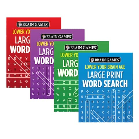 Publications International Word Search Books - Large Print Lower Your Brain Age