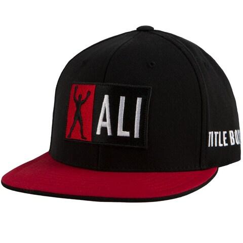 Title Boxing Muhammad Ali Fitted Flat Brim Cap - Black/Red