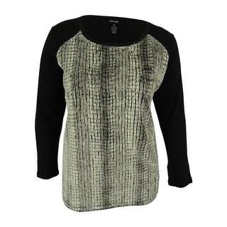 Style & Co. Women's Faux Fur Sweater Top