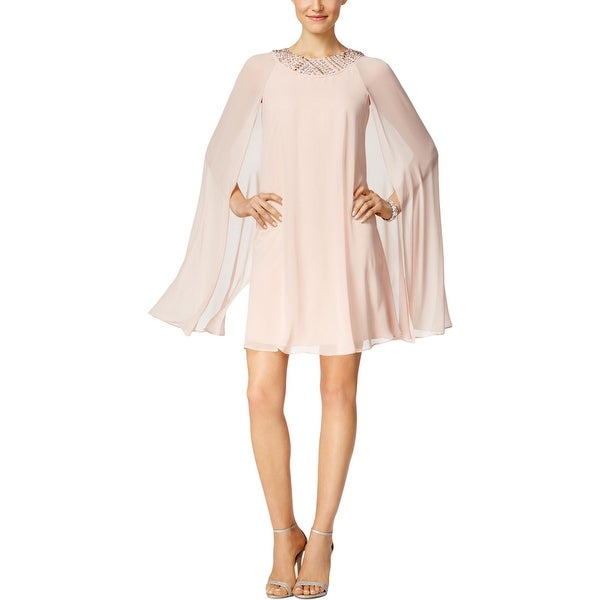Vince Camuto Womens Party Dress Fly-Away Cape