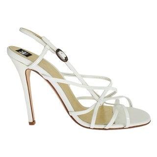 Dolce & Gabbana White Leather Sandals Pumps - 39