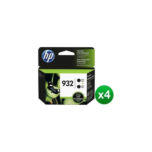 HP 932 Black Original 2 Ink Cartridges (L0S27AN)(4-Pack)
