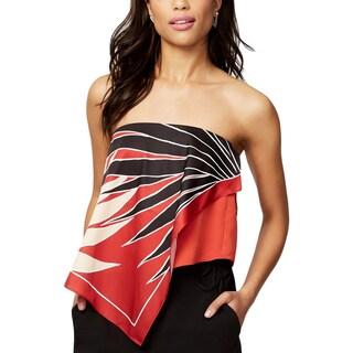 Rachel Rachel Roy Womens Pullover Top Printed Strapless - L
