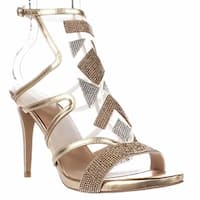 TS35 Regalo Rhinestone Mesh Dress Sandals, Champagne