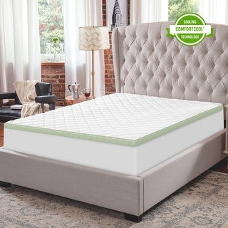 Link to SensorPEDIC 3-Inch Ultimate Cooling Luxury Quilted Memory Foam Bed Topper - White Similar Items in Mattress Pads & Toppers