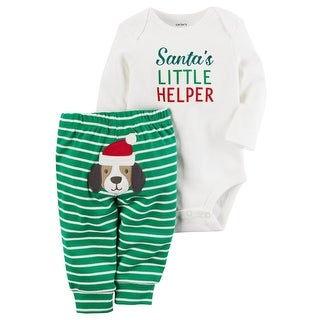 Carter's Baby Boys' 2-Piece Christmas Bodysuit Pant Set, 12 Months