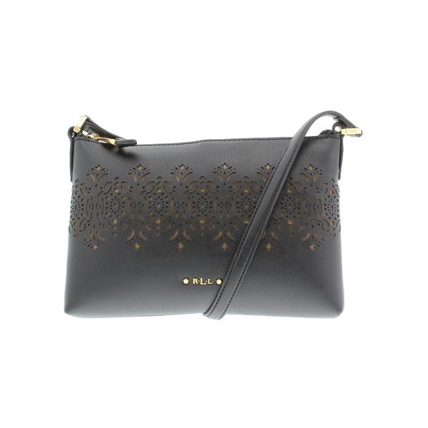 0bc7c0ff99ed Lauren Ralph Lauren Womens Lauderdale Tasmine Shoulder Handbag Faux Leather  - small
