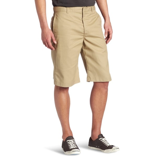 05801a3c68bc Shop Dickies Beige Mens Size 36 Classic Fit Flat Front Shorts Khaki - Free  Shipping On Orders Over  45 - Overstock - 27915520
