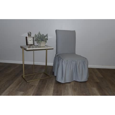 Ruffled Dining chair slipcover with bowtie