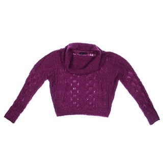 Sanctuary Womens Pullover Sweater Boucle Open Stitch