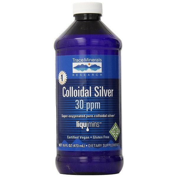 Trace Minerals Super Oxygenated Colloidal Silver 30 ppm - 16 oz | Immune Function