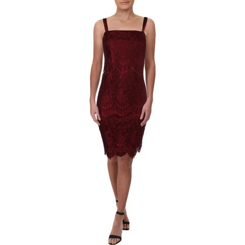 R&M Richards Womens Cocktail Dress Lace Metallic