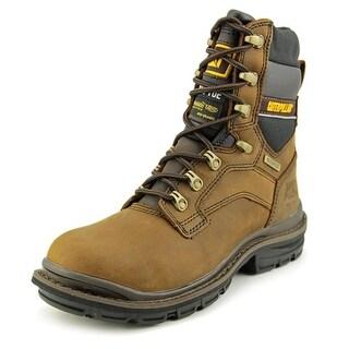 "Caterpillar Generator 8"" WP ST Men Steel Toe Leather Brown Work Boot"