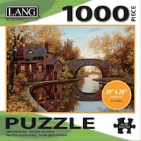 """Jigsaw Puzzle 1000 Pieces 29""""X20""""-House By The River"""