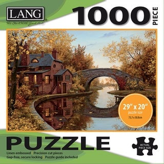 "Jigsaw Puzzle 1000 Pieces 29""X20""-House By The River"