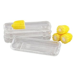 "HIC 43206 Glass Corn Dish, 8-1/2"", Set of 4"