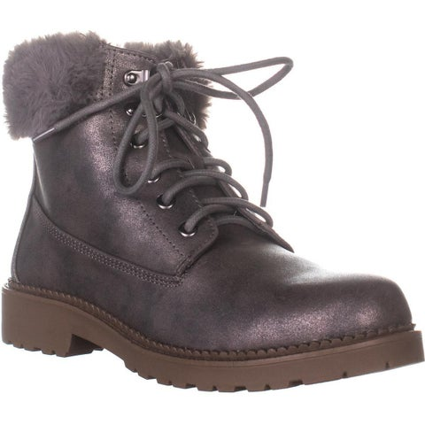ESPRIT Chelsea Lace Up Boots, Pewter - 9.5 US