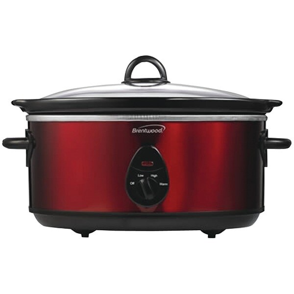 Brentwood Sc-150R 6.5 Quart Slow Cooker (Red)