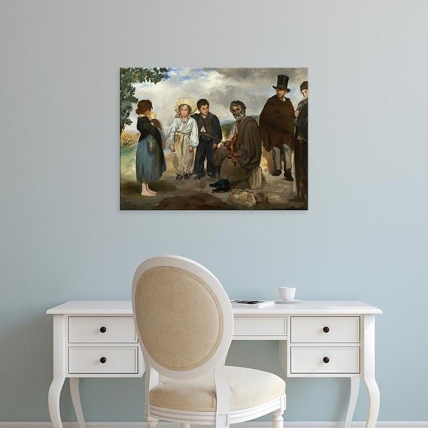 Easy Art Prints 's 'The Old Musician, 1862' Premium Canvas Art
