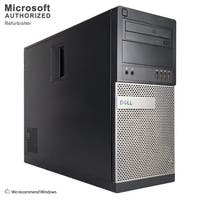 Dell OptiPlex 990 Computer Tower Intel Core I7 2600 3.4G 8GB DDR3 1TB HDD DVD W10P64(ES/EN)-1 Year Warranty (Refurbished)-Black