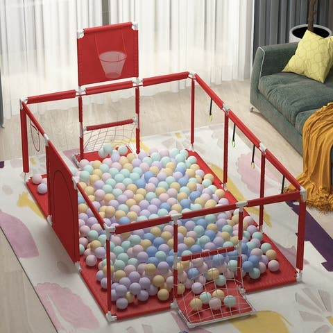 Large Kids Baby Ball Pit Safety Gate Baby Playpen