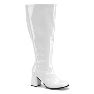 Womens White Wide Calf Halloween Gogo Boots