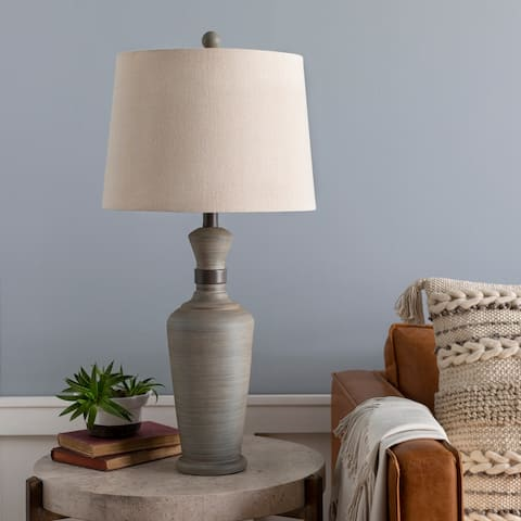 "Constance Classic Grey 28.5-inch Table Lamp - 28.5""H x 14""W x 14""D"