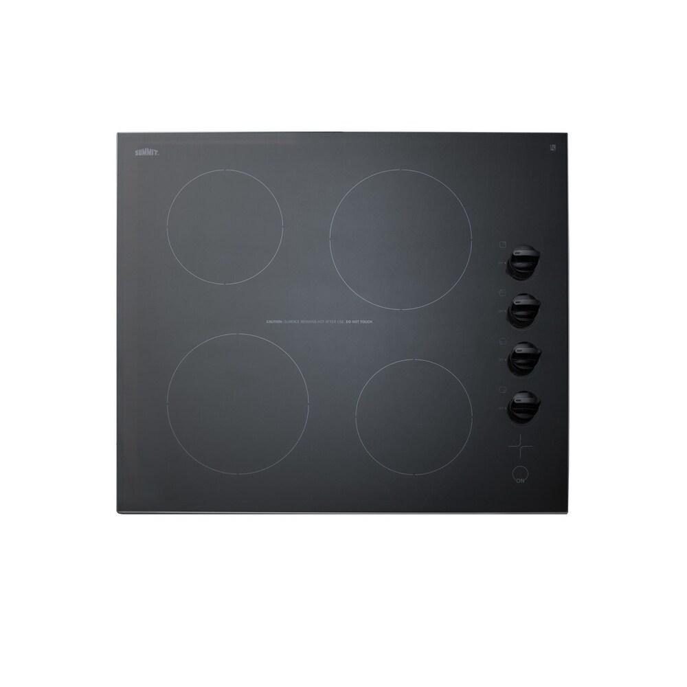 """Summit  CR4B242  24"""" Wide 4 Burner Induction Cooktop - 230 Volt - Black (Black)"""
