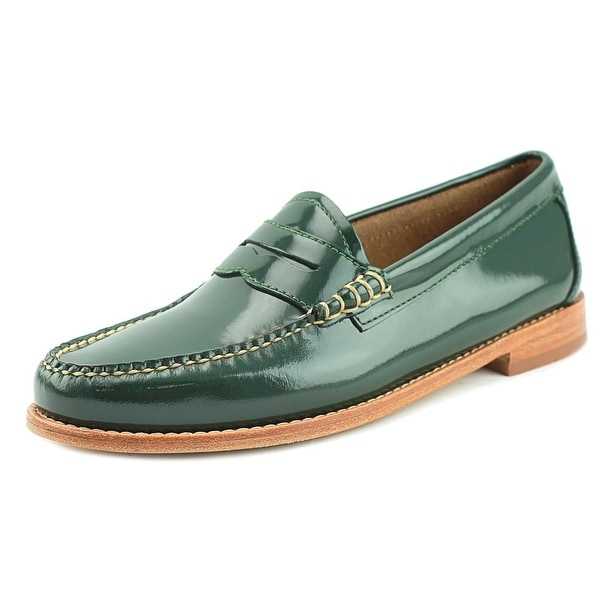 GH Bass & Co Whitney Women Round Toe Leather Green Loafer