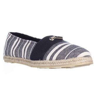 Nautica Althea Slip-On Espadrille Flats - Navy Cabana Stripe