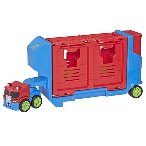 Transformers Rescue Bots Academy Flip Racers Optimus Prime Launcher Trailer