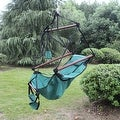 Sunnydaze Hanging Hammock Chair & Hammock Stand Combo W/ Pillow & Drink Holder - Thumbnail 13