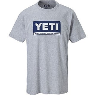 Yeti Cooler: Mens Grey Billboard Tee - gray