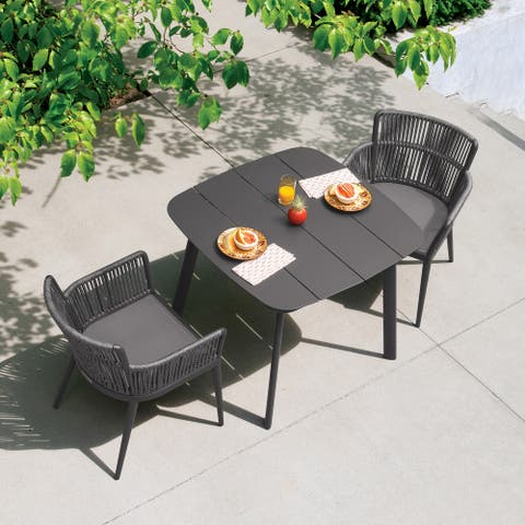 Enna 3-piece Carbon and Pewter Dining Table Set by Havenside Home