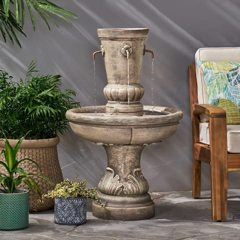 Frederick Outdoor Outdoor 4 Spout Fountain by Christopher Knight Home