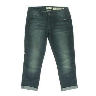 Indigo Rein Womens Juniors Dirt Wash Denim Capri Jeans - 7