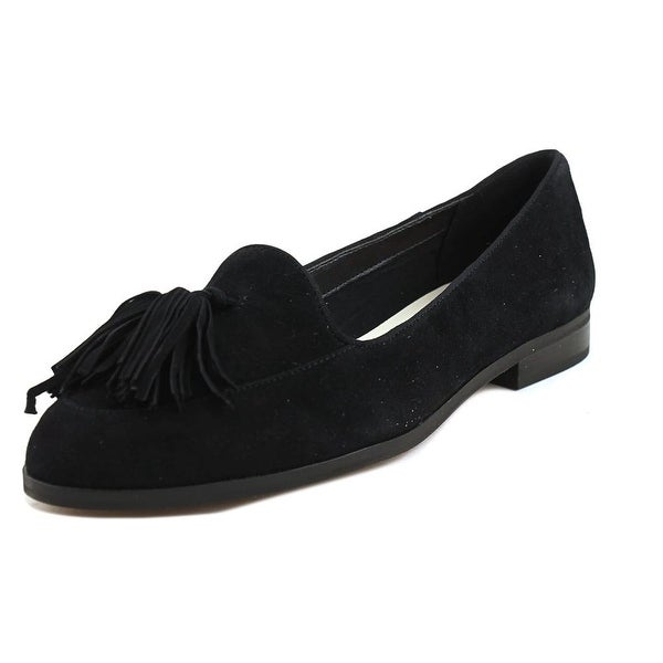 b4fa6a20558 Shop Anne Klein Darcy Women Round Toe Suede Black Loafer - Free ...