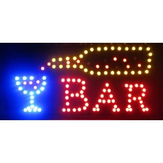 2xhome Bar Multi-Color LED Sign with Animation Effects & Motion Flashing Capabilities
