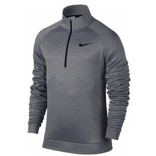 Nike Mens Thrma Top Ls Qz - grey heather/black