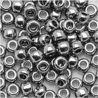 Toho Round Seed Beads 15/0 711 - Nickel (8 Grams)