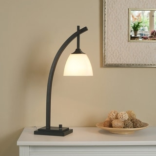 Link to Porch & Den Alfred Glass and Metal Desk Lamp Similar Items in Desk Lamps