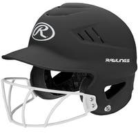 Rawlings Coolflo Highlighter Softball Helmet/Face Guard-Blk - RCFHLFG-MBK