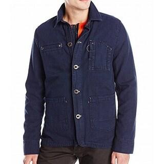 Tommy Hilfiger NEW Navy Blue Mens Size Large L Layered Field Jacket